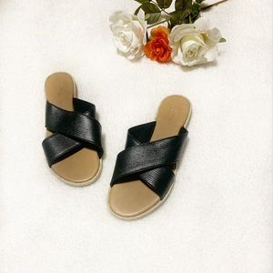 Urban Outfitters Shoes - Urban Outfitters Black Slide On Sandals